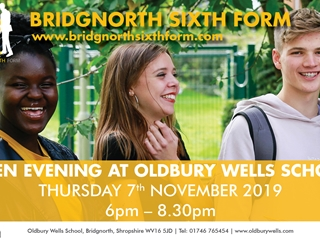 Bridgnorth Sixth Form Open Evening – 7th November 2019